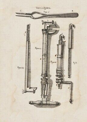 Instruments for Teeth Extraction,1655, Johannes Scultetus, Dentist Poster