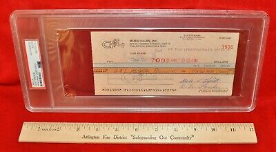 Leo Fender Autographed 1984 $7,000 Check PSA/DNA Authenticated Encapsulated #4
