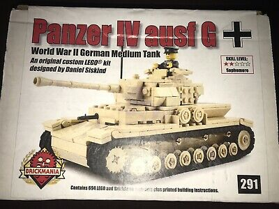 NEW BRICKMANIA RE-VAMPED Panzer IV Ausf G Kit & Custom Panzer Commander  Minifig