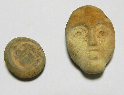 Zurqieh -As13495- Ancient Roman. Lot Of 2 Terracotta Relics. 100 - 200 A.d