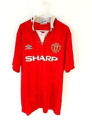 Manchester United Home Shirt 1992. Medium. Umbro. Red Adults Man Utd Top Only M.
