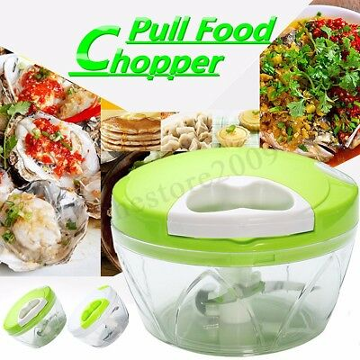 Kitchen Manual Food Vegetable Onion Chopper Mincer Blender Crusher Dicer  AU