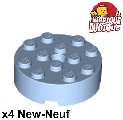 Black Lego 60474-2x Plaques ronde NEW NEUF Plate round 4x4 with hole