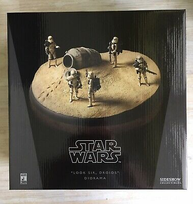 Star Wars Sideshow Look Sir Droids Sandtrooper Cinerama Diorama New MISB - Rare!