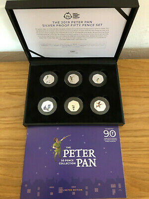 Peter Pan Silver Proof 50p Coin Set SOLD OUT #0367 Fifty Pence Coin Set
