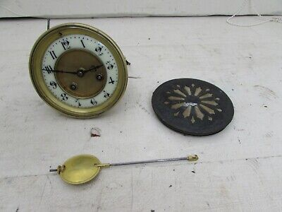 Antique Japy Freres Med D'Honneur Mantel Clock Movement With Pendulum 4.25""