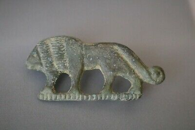Ancient Interesting Roman Bronze Fibula Brooch * Lion  1st - 4th AD