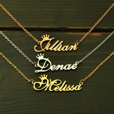 Personalized Necklace Custom Name Plate Alloy Link Rollo Chain Fashion Jewelry
