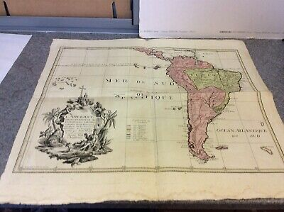 Rare 18th Century Map Of South America