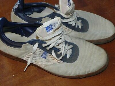 TRED 2 Rare Vintage 1970s? Sneakers White Suede Boat Tennis Shoe SAN JOSE CA