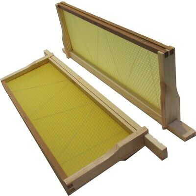 10 SN4 ASSEMBLED SUPER FRAMES FOR NATIONAL HIVES with WIRED FOUNDATION