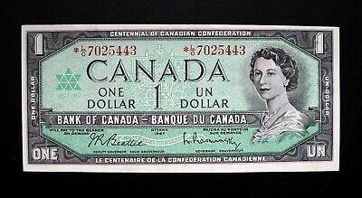 1967 BANK OF CANADA $1 Dollar Rare Replacement Note *L/O 7025443 BC-45bA