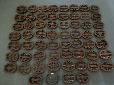 """Black Walnut Shells Slices 1-1/8"""" 1/4"""" Thick 60 Piece Free Shipping"""