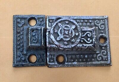 Antique Eastlake Victorian Cast Iron Cupboard Cabinet Turn Latch, spring action