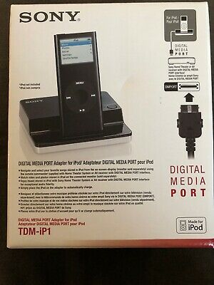 SONY TDM-iP1 iPOD DIGITAL MEDIA PORT ADAPTER PLAY IPOD ON HOME THEATER OR STEREO