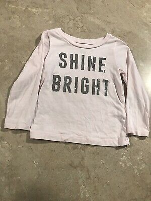 Carter's Girls 2T Pink Long Sleeve Shine Bright Shirt!