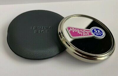 Irving Rice 5X Magnifying Mirror Pocket Purse Stainless Chrome