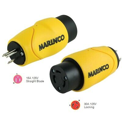 Marinco Straight Adapter S15-30 15A M to 30A F                           H219FS