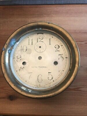 Seth Thomas Maritime Antique Brass Ships Clock Double Wind Project Spare Parts