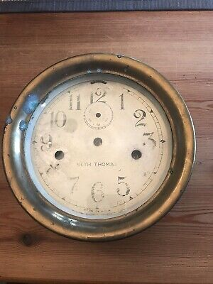 Seth Thomas Nautical Maritime Ships Clock Double Wind Antique Brass Made In USA