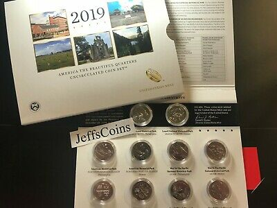 2019 P D All ATB Uncirculated10 Coin Quarter PD Set 19AA San Antonio Missions TX
