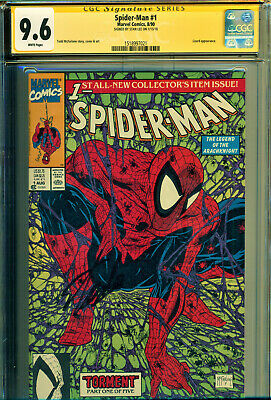 Spider-Man #1 Cgc 9.6 Ss Signed By Stan Lee! Todd Mcfarlane Art! Classic Cover!