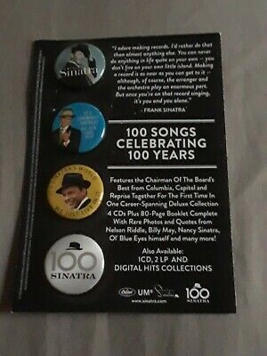 """Frank Sinatra - New set of four 1"""" Ultimate Sinatra promo only buttons"""