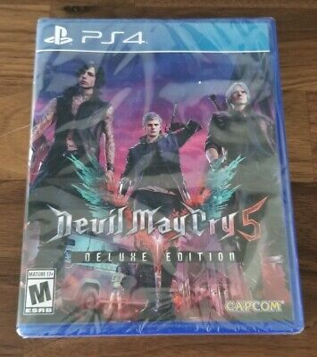 Devil May Cry 5 Deluxe Edition PlayStation 4 BRAND NEW & SEALED!! dmc5 ps4 rare