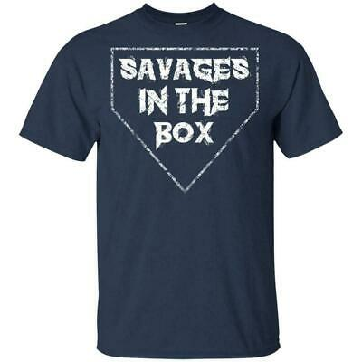 SAVAGES IN THE BOX AARON BOONE YANKEES Manager Saying T-Shirt Navy S-6XL Men TEE