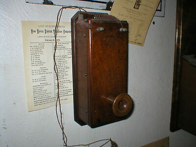 1878 Wall  Box Transmitter, Charles Williams Manufacturer model Fully working