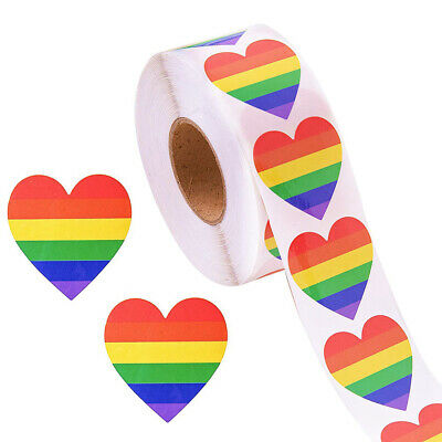 2x1.25in Rectangle Shaped Gay pride 2 Rainbow sticker