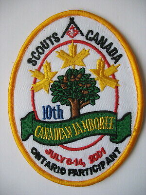 Scouts Canada Patch - 2001 Canadian Jamboree - Ontario Participant - P.e.i.