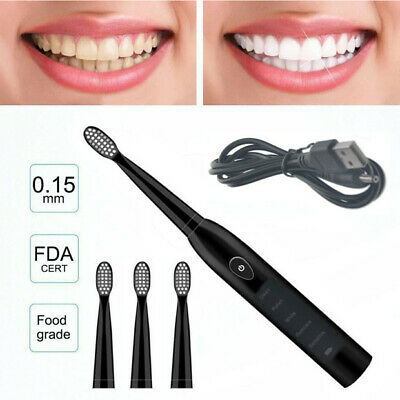 5 Series Sonic Electric Toothbrush USB Rechargeable Vitality Sensitive +4 Heads