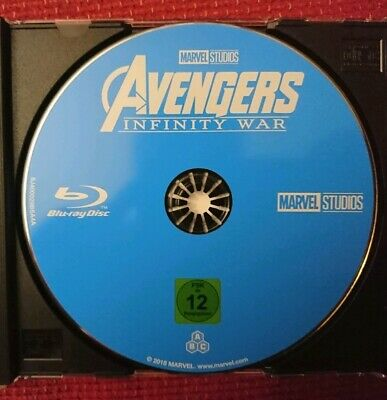Avengers Infinity War Blu Ray Versione Tedesca Solo Disco