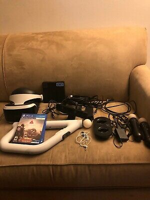 Sony PlayStation VR PS4 PSVR Bundle W/ Farpoint  AIM Controller, Cam, and More