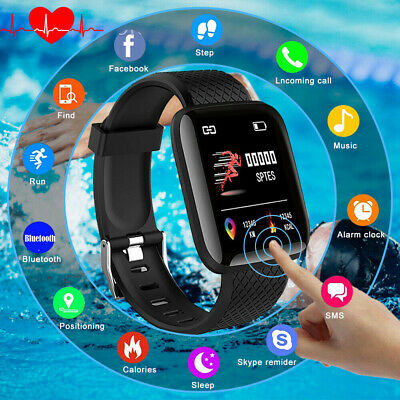 Fitness Smart Watch Band Sport Activity Tracker For Fitbit Kids Android iOS