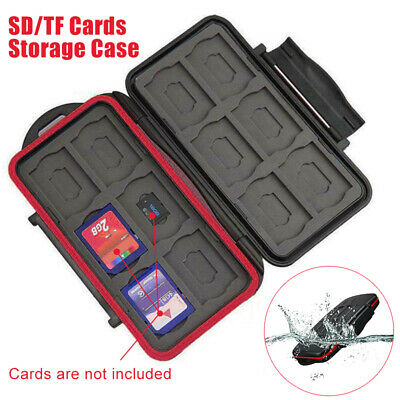 SD MicroSD Memory Card Case Holder Hard Storage Wallet Anti-shock Waterproof