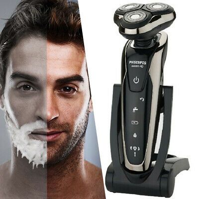 4D Mens Razor Wet/Dry Rechargeable Cordless Trimmer Waterproof Electric Shaver