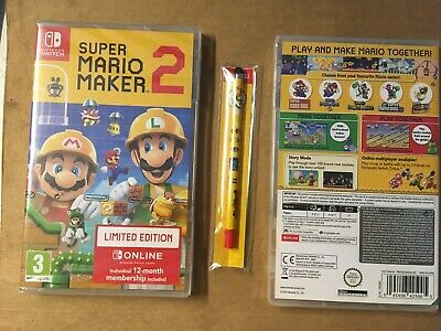 Super Mario Maker 2 Limited Edition + Stylus New English Nintendo Switch