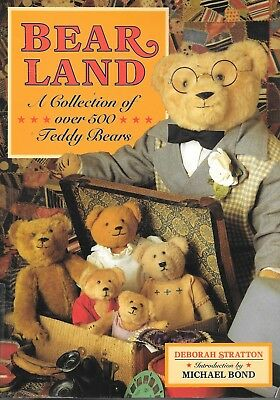 Bear land a collection of over 500 teddy bears PB book Stratton history c.1993