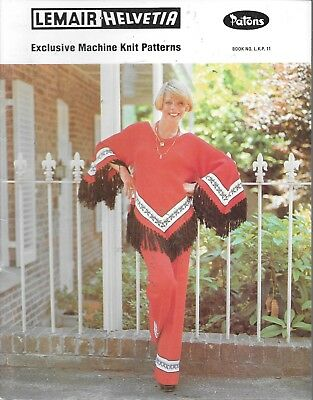 Vintage machine knitting pattern lemair Patons easy to wear ladies fashion retro