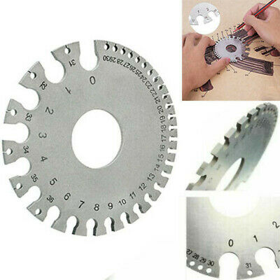 Wire & Sheet Gage gauge for Iron and Steel US Standard Thickness Measuring Gauge