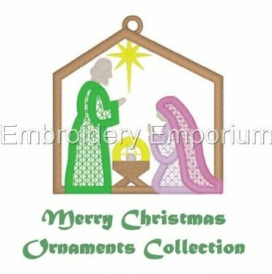 Merry Christmas Ornaments Collection - Machine Embroidery Designs On Cd Or Usb