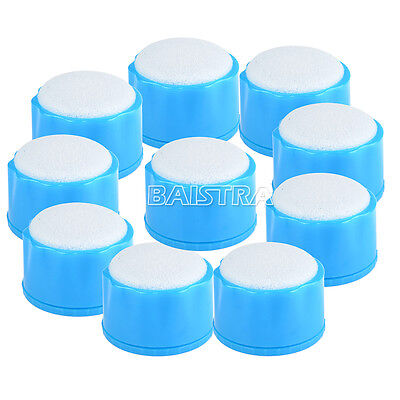 10 PCS Dental Round Endo Stand Cleaning Clean Foam Sponges File Holder Auto SALE