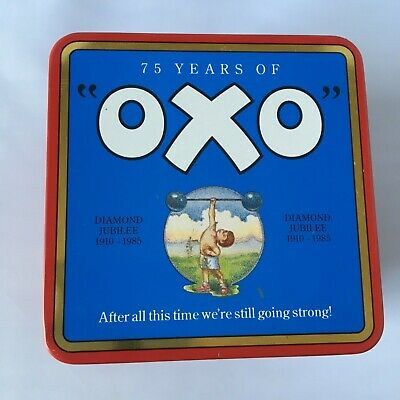 Old Oxo Tin, 75 Year's Of Oxo, From 1985 Diamond Jubilee, Very Good Condition.