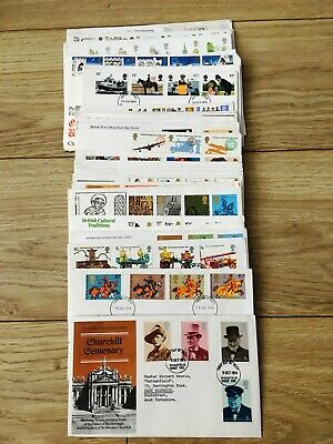 Job Lot of 48 UK GB First Day Covers FDC's From 1971 To 1980 Lot #13