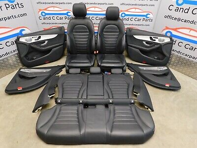 Mercedes C Class W205 Amg Electric Heated Memory Leather  Full Interior Set 17/7