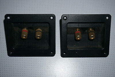 Pair of Speaker Terminals Posts Bare Wire 90x75mm