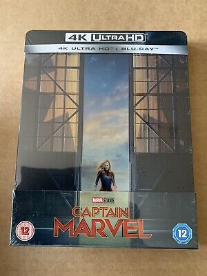 Captain Marvel 4K UHD Steelbook Blu Ray NEW AND SEALED Avengers