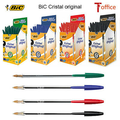 Original Bic Cristal Pens Medium - 1.0Mm In Black, Blue & Red Ballpoint Pens